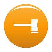 Legislation icon vector orange