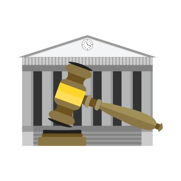 mahkeme kararı yasal - supreme court stock illustrations