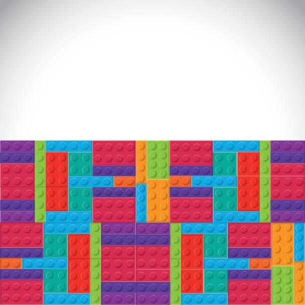 stockillustraties, clipart, cartoons en iconen met lego pictogram. abstracte figuur. vectorafbeelding - lego
