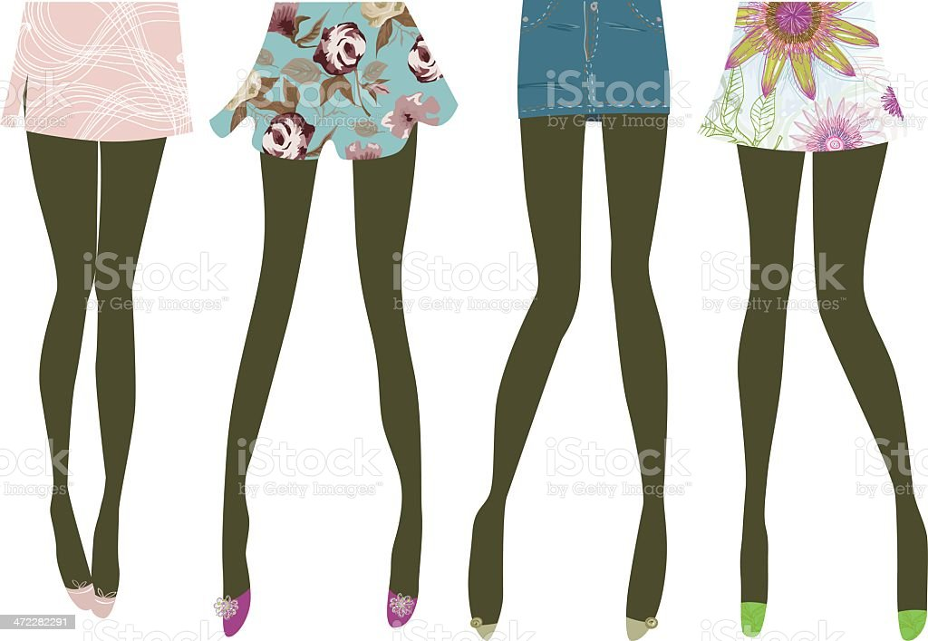 Legs and skirts royalty-free stock vector art