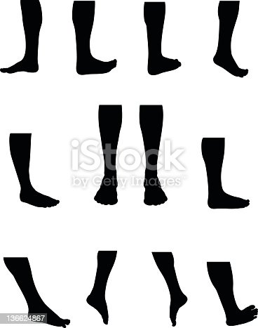 Legs Silhouette Stock Vector Art & More Images of ...