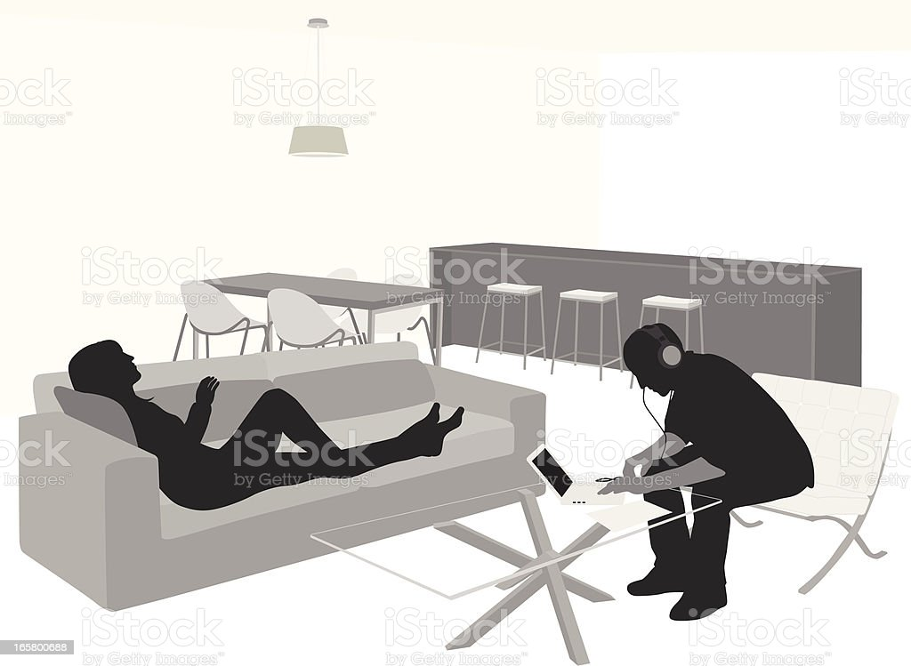 Leisure Activities Vector Silhouette royalty-free stock vector art