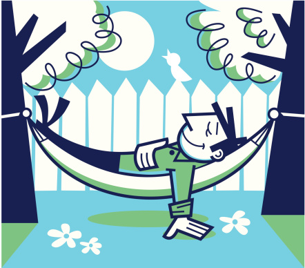 Relaxed stock illustrations