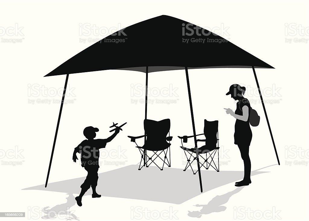 Leisure Vector Silhouette vector art illustration