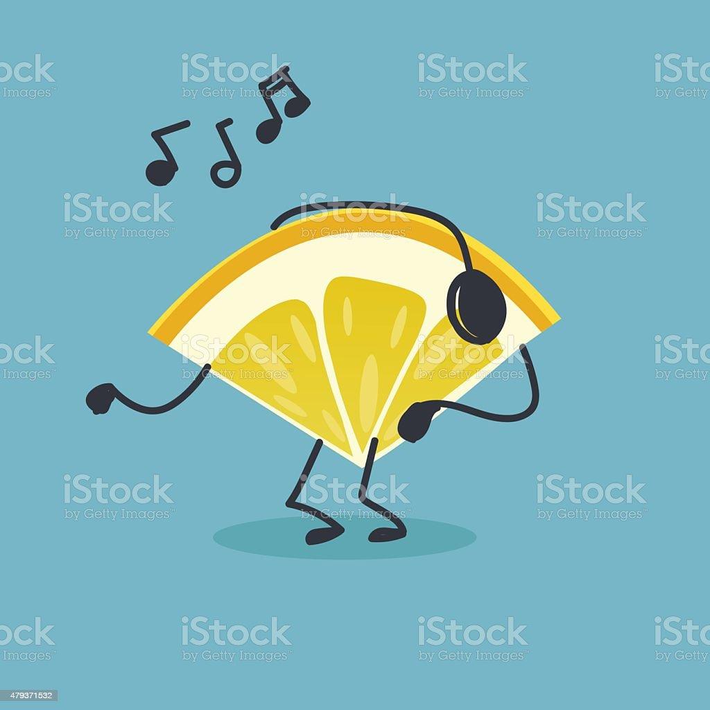 Lemon character illustration vector art illustration