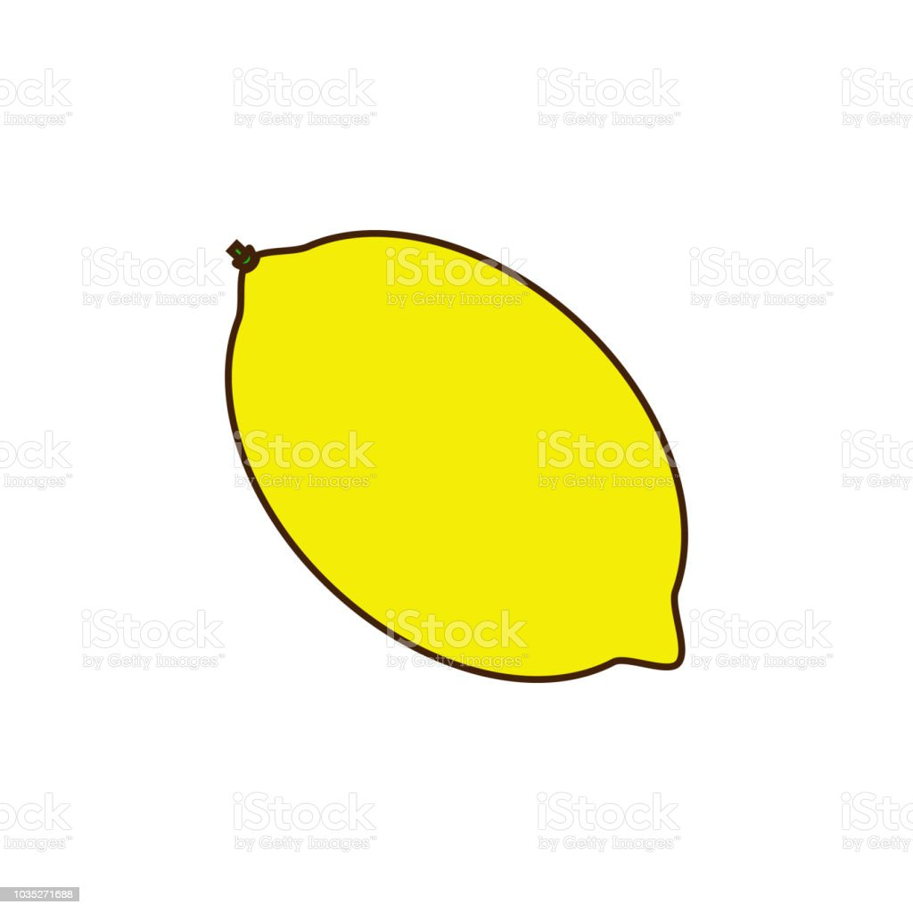 Lemon Colored Icon Element Of Fruits And Vegetables Icon For