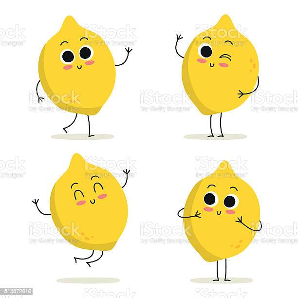 Lemon cute fruit character set isolated on white vector id513872616?b=1&k=6&m=513872616&s=612x612&h=dtxg9687eequzmic7ehebqqscg q s2znpduuh vapm=