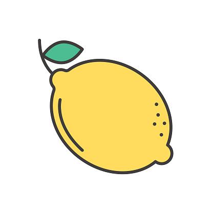 Lemon Cute Fruit Icon