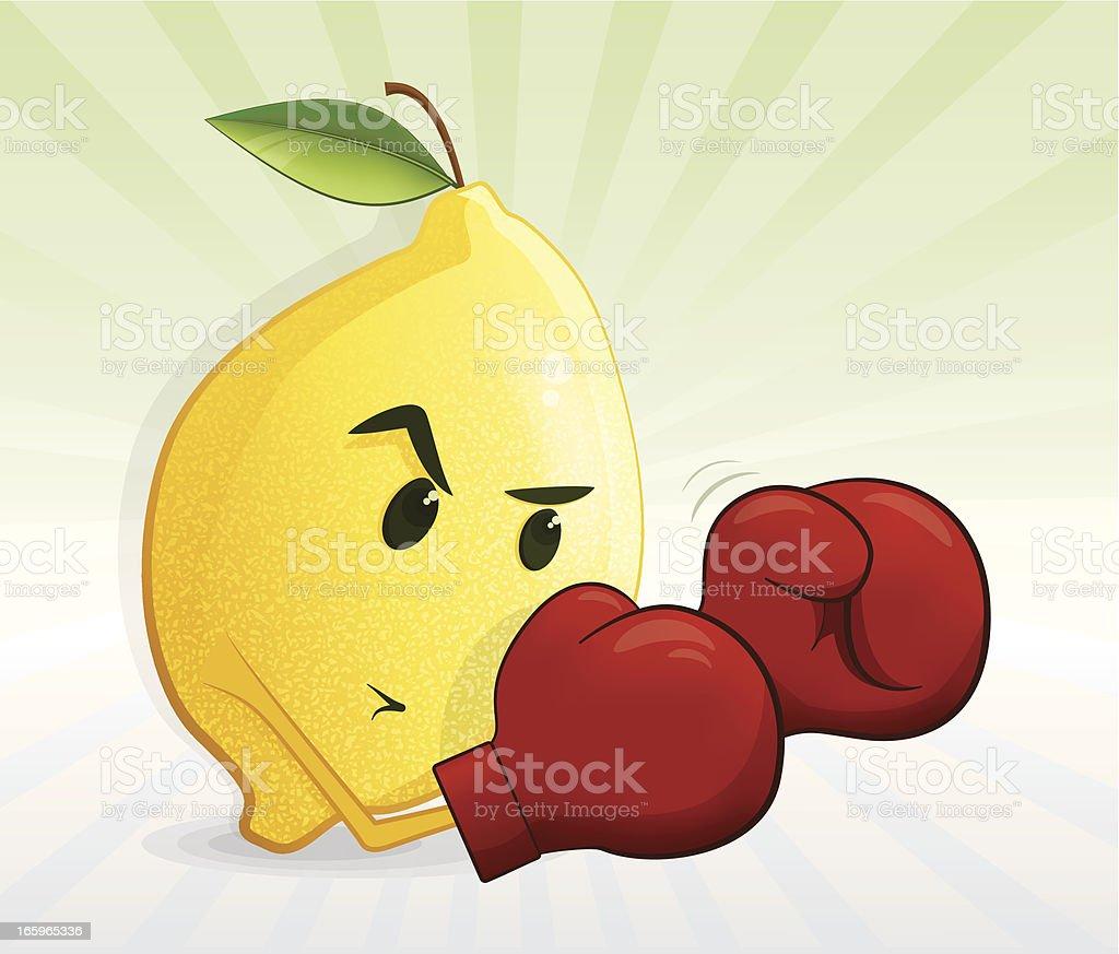 Lutador de limão - ilustração de arte em vetor