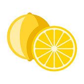 istock Lemon Flat Design Fruit Icon 980472510