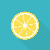 Lemon flat icon (EPS 10)