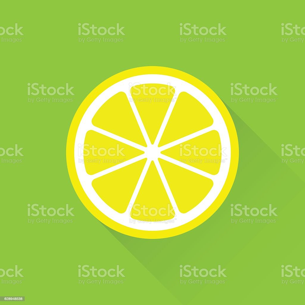 Lemon flat icon vector art illustration