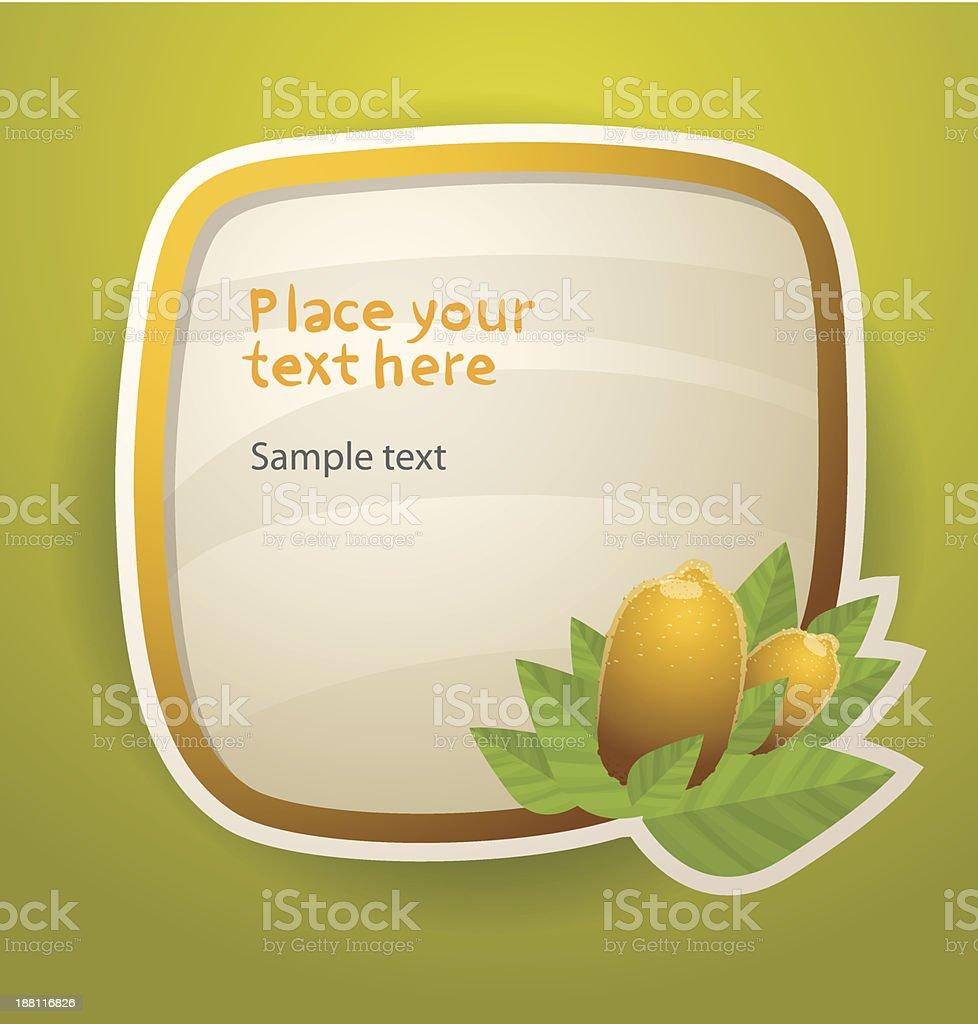 Lemon fruit banner royalty-free stock vector art