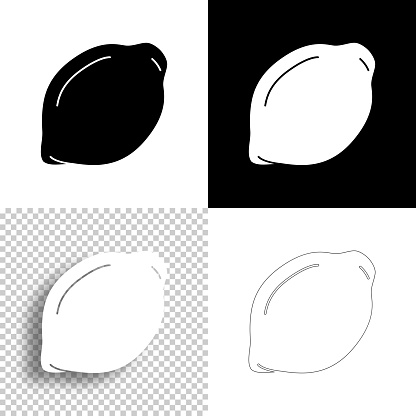 Lemon. Icon for design. Blank, white and black backgrounds - Line icon