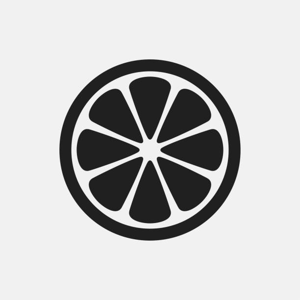 Lemon icon illustration Lemon icon illustration isolated vector sign symbol lime stock illustrations