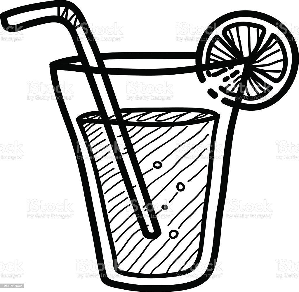 Line Art Juice : Lemon juice doodle stock vector art more images of