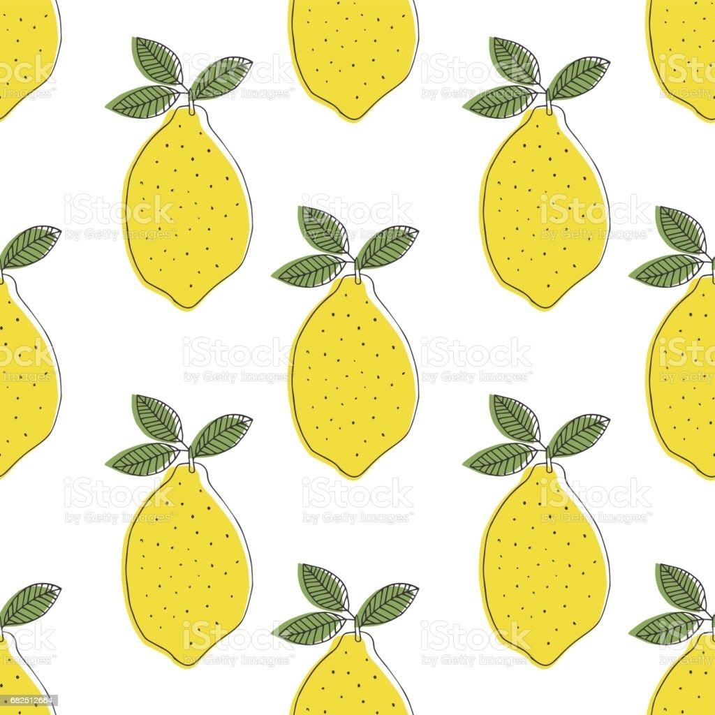 Zitronen-Muster Lizenzfreies zitronenmuster stock vektor art und mehr bilder von abstrakt