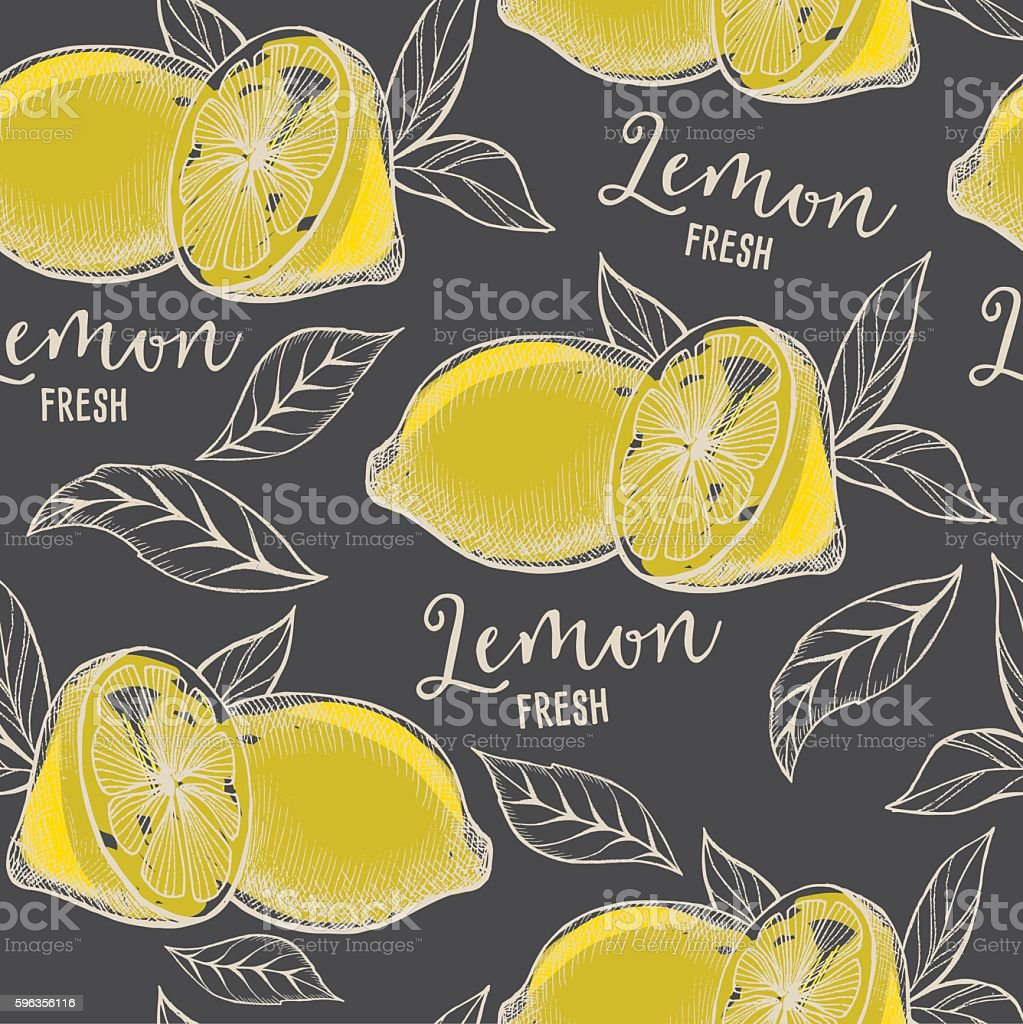 Lemon seamless pattern background. royalty-free lemon seamless pattern background stock vector art & more images of abstract