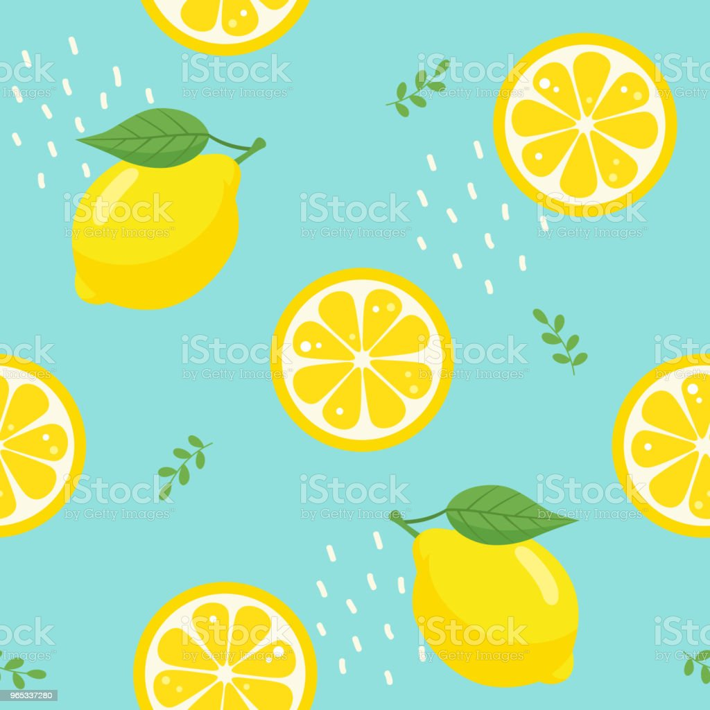 Lemon seamless pattern on blue background royalty-free lemon seamless pattern on blue background stock vector art & more images of abstract
