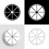 istock Lemon slice. Icon for design. Blank, white and black backgrounds - Line icon 1299635021