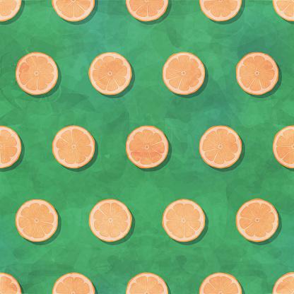 Lemon slice seamless pattern