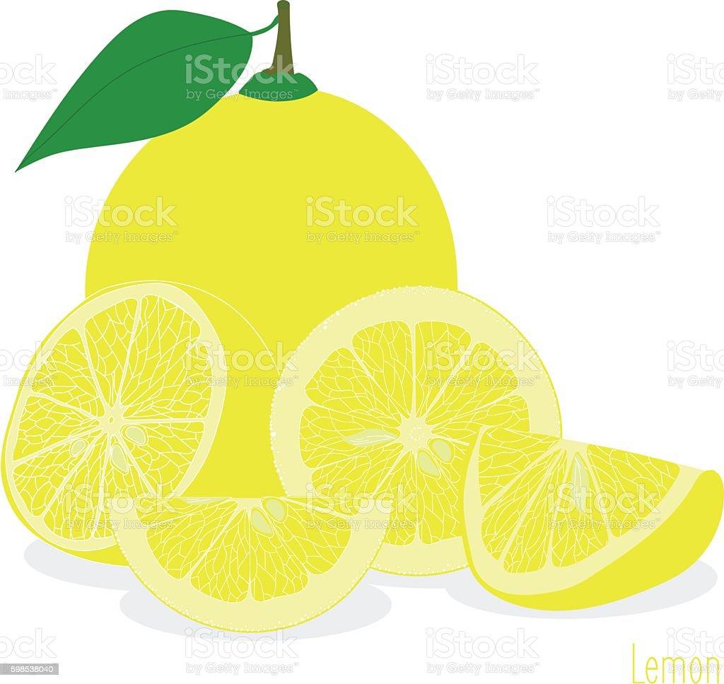 Lemon,  slices, set of lemons lemon slices set of lemons – cliparts vectoriels et plus d'images de agrume libre de droits