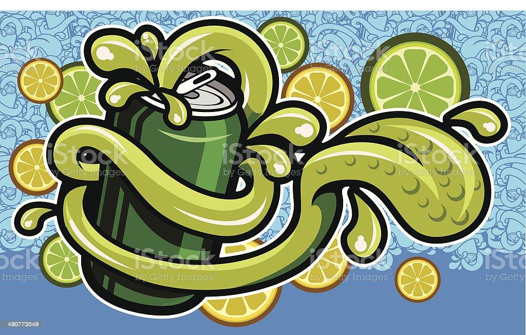 Lemon soda concept royalty-free lemon soda concept stock vector art & more images of aluminum