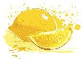 A fresh lemon illustration.