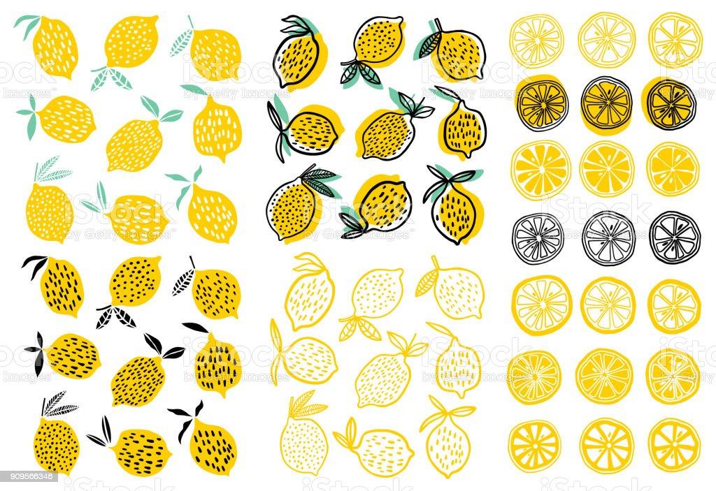 Ilustración vectorial de limón - ilustración de arte vectorial