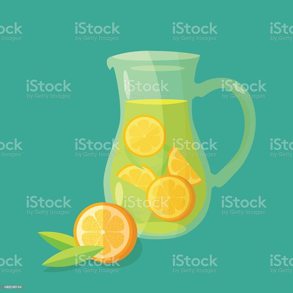Lemonade carafe vector icon vector art illustration
