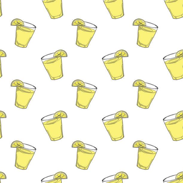 Best Vector Lineart Glass Of Lemonade Illustrations, Royalty