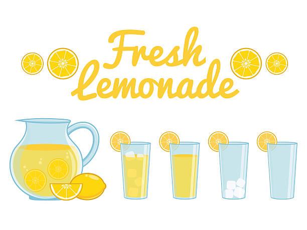 레모네이드 격리됨에 - 레모네이드 stock illustrations