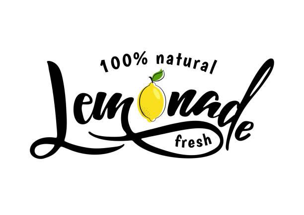 ilustraciones, imágenes clip art, dibujos animados e iconos de stock de muestra letras de limonada - comida casera