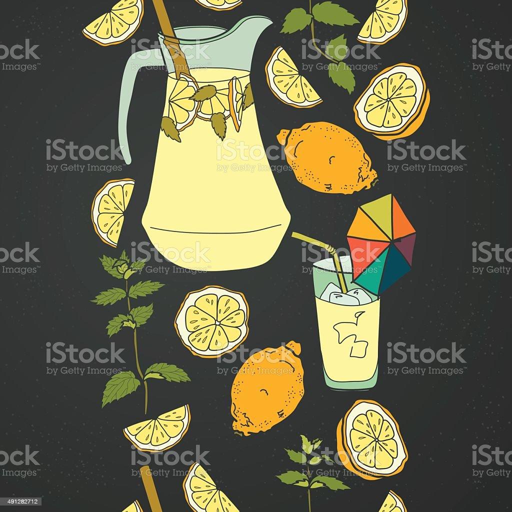 Lemonade pattern. vector art illustration
