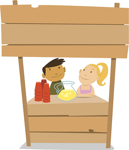Lemonade Stand C Lemonade Stand C lemonade stand stock illustrations