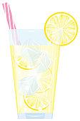 vector, illustration, homemade, organic, drink, detox, healthy
