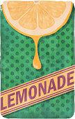 Grunge retro lemonade poster. EPS10 vector illustration, global colors, easy to modify.