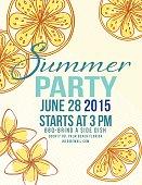 Lemons Summer Beach Party Invitation Template