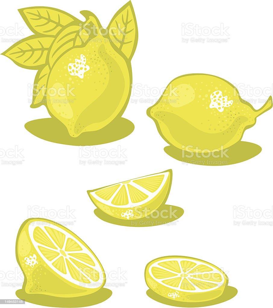 Lemons vector art illustration