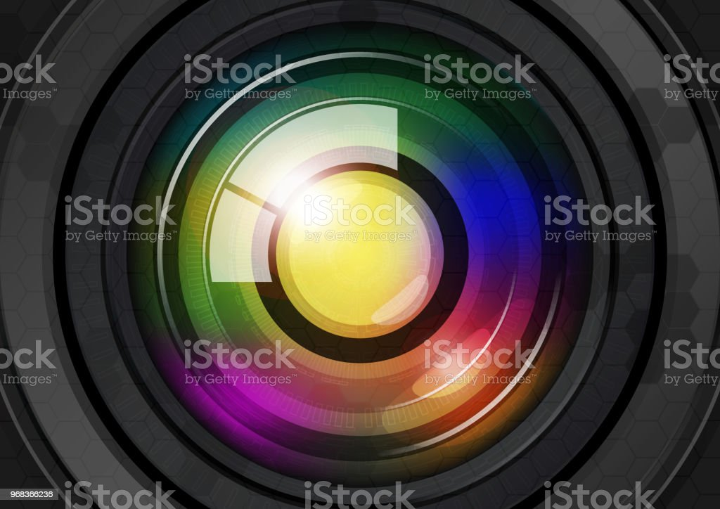 Lens abstract vector background.