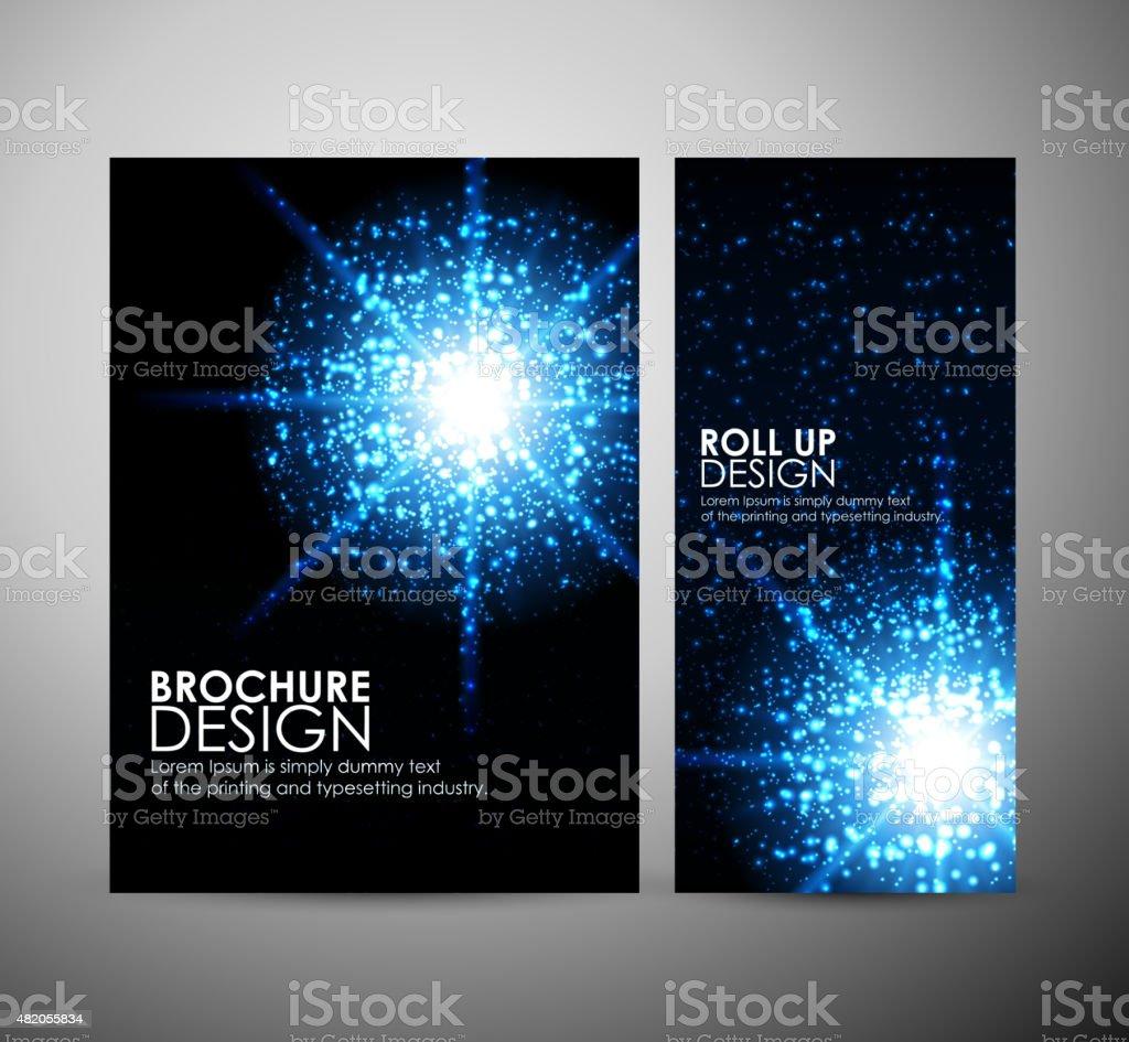 Lens flare vector background, Brochure business design template or...