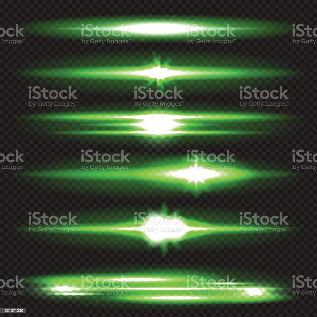 Lens flares set vector art illustration