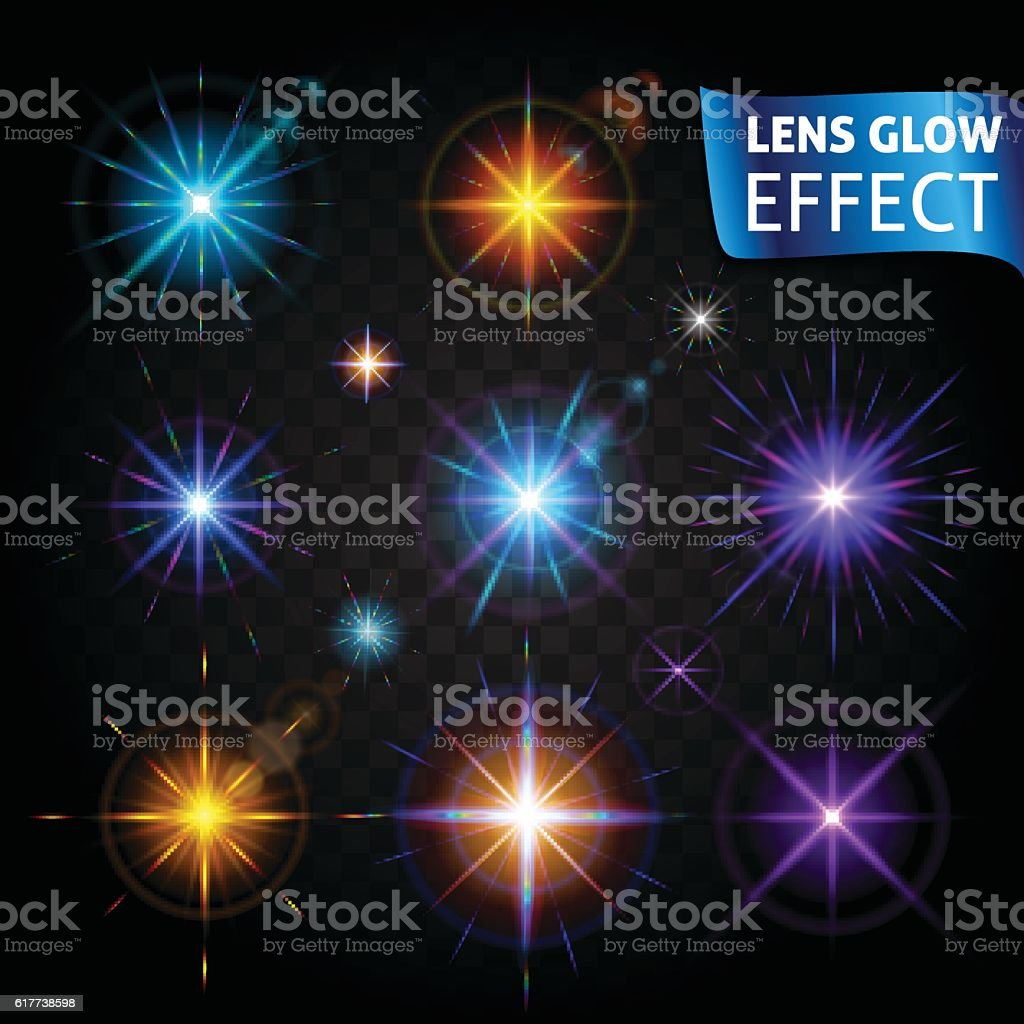 Lens Glow Effect Glowing Light Glare Bright Realistic Lighting Effects stock vector art 617738598 | iStock & Lens Glow Effect Glowing Light Glare Bright Realistic Lighting ... azcodes.com
