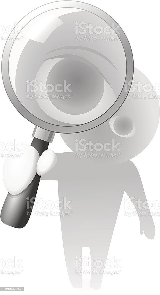 Guy imagem de vetor de lente ilustração de guy imagem de vetor de lente e mais banco de imagens de adulto royalty-free