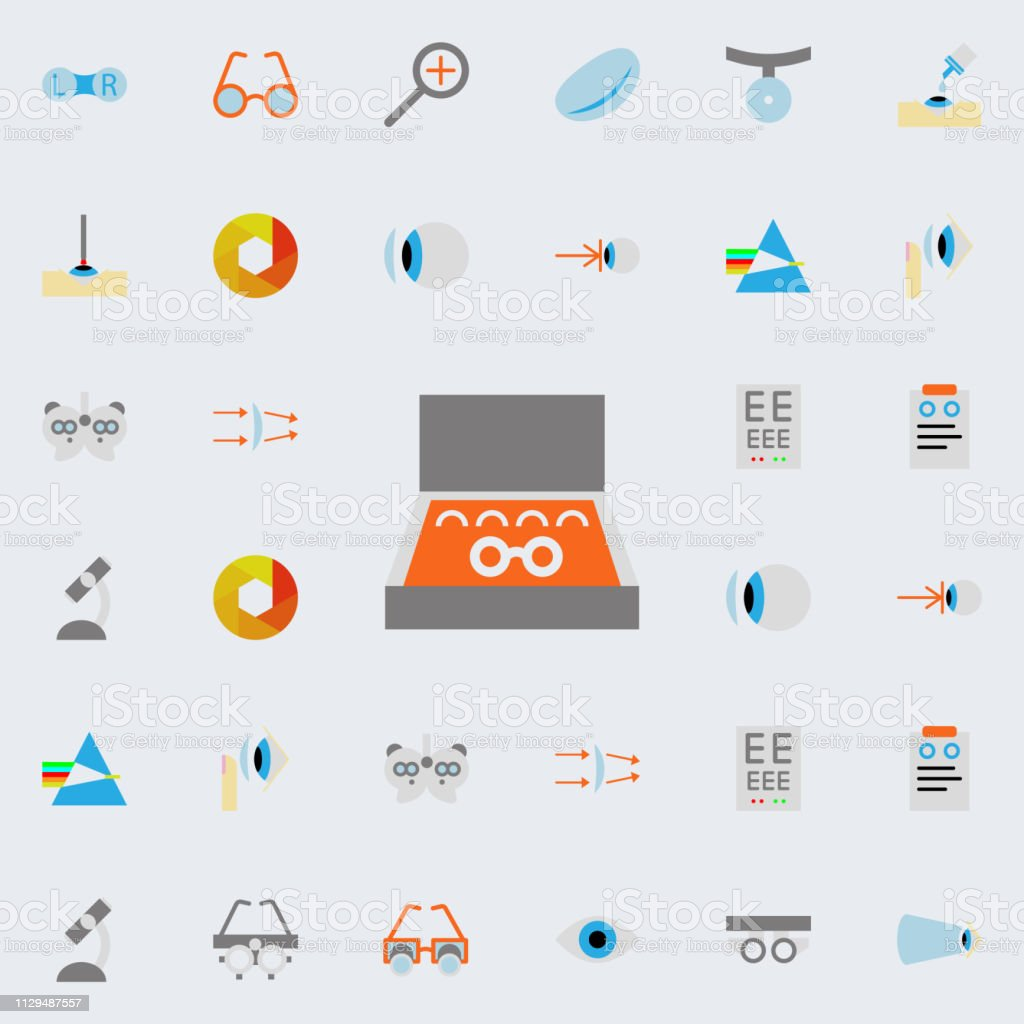lens illustration icon. optometry icons universal set for web and...