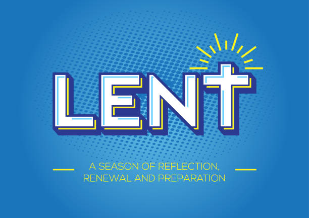 Lent, time of repentance, fasting and preparation a solemn religious observance in the Christian liturgical calendar that begins on Ash Wednesday and ends approximately six weeks later, before Easter Sunday lent stock illustrations