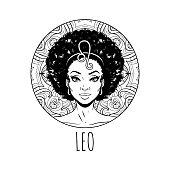12 Zodiac Girls Coloring Pages By Elen Lane   TheHungryJPEG.com   170x170