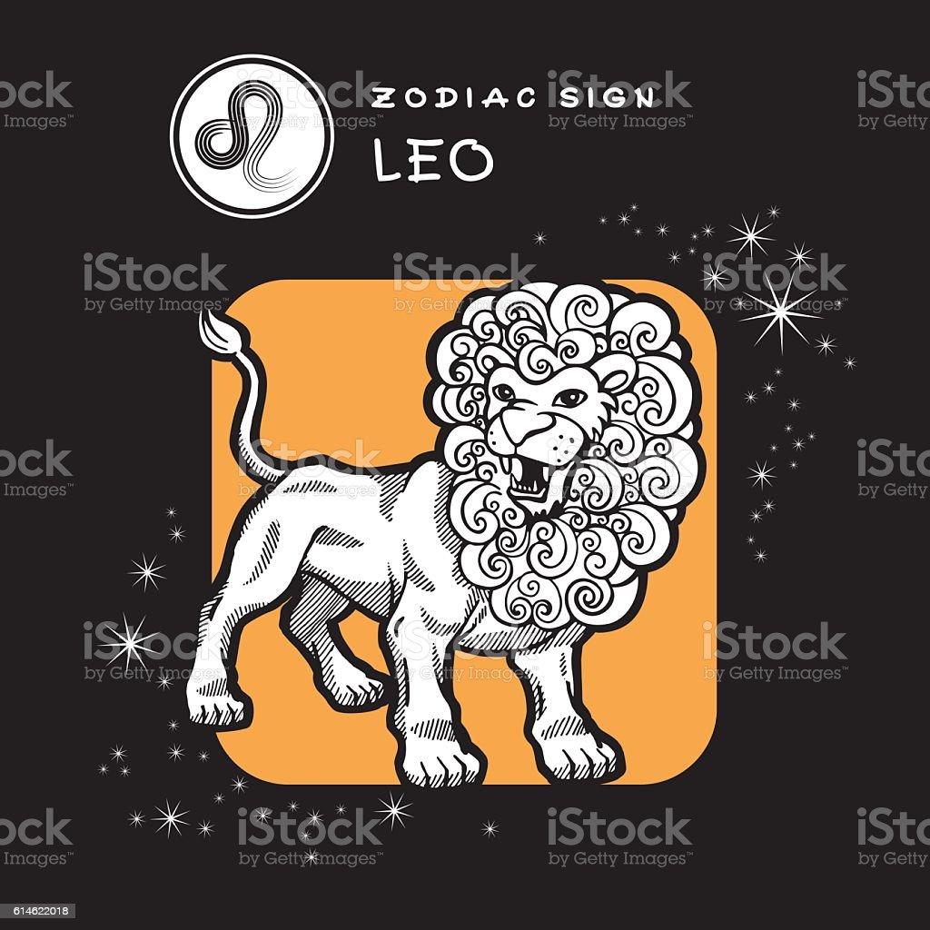 Leo - Zodiac Sign. ベクターアートイラスト