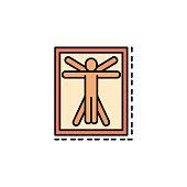 Leonardo da Vinci, famous, man icon. Element of history color icon for mobile concept and web apps. Color Leonardo da Vinci, famous, man icon can be used for web and mobile