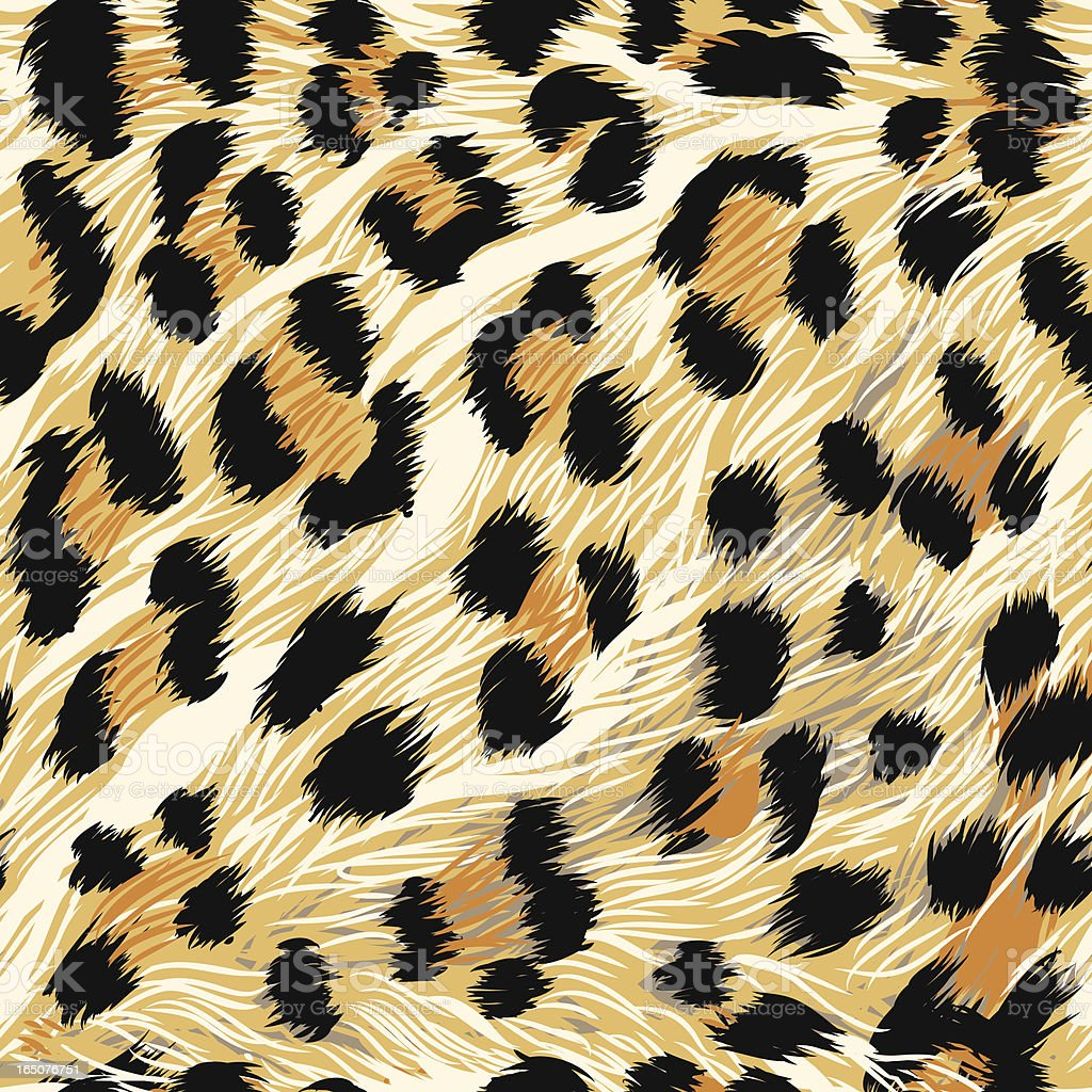 Leopard Fur (seamless tile) vector art illustration